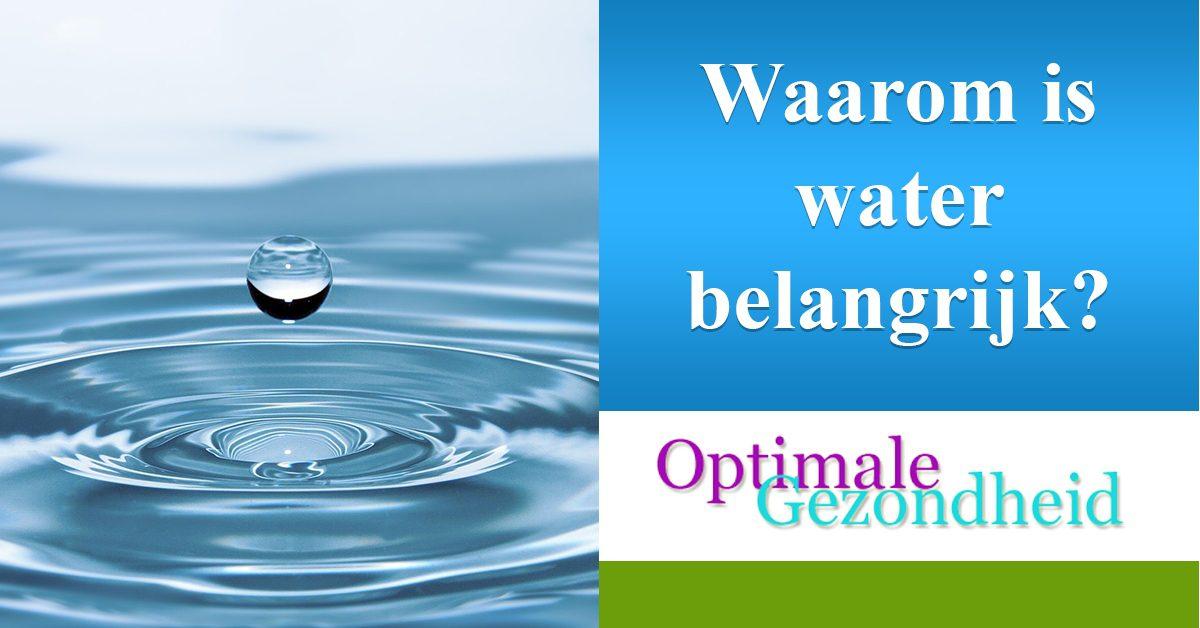 Waarom is water nu zo belangrijk voor je?