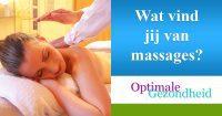 Massages zijn gezocht en lekker!