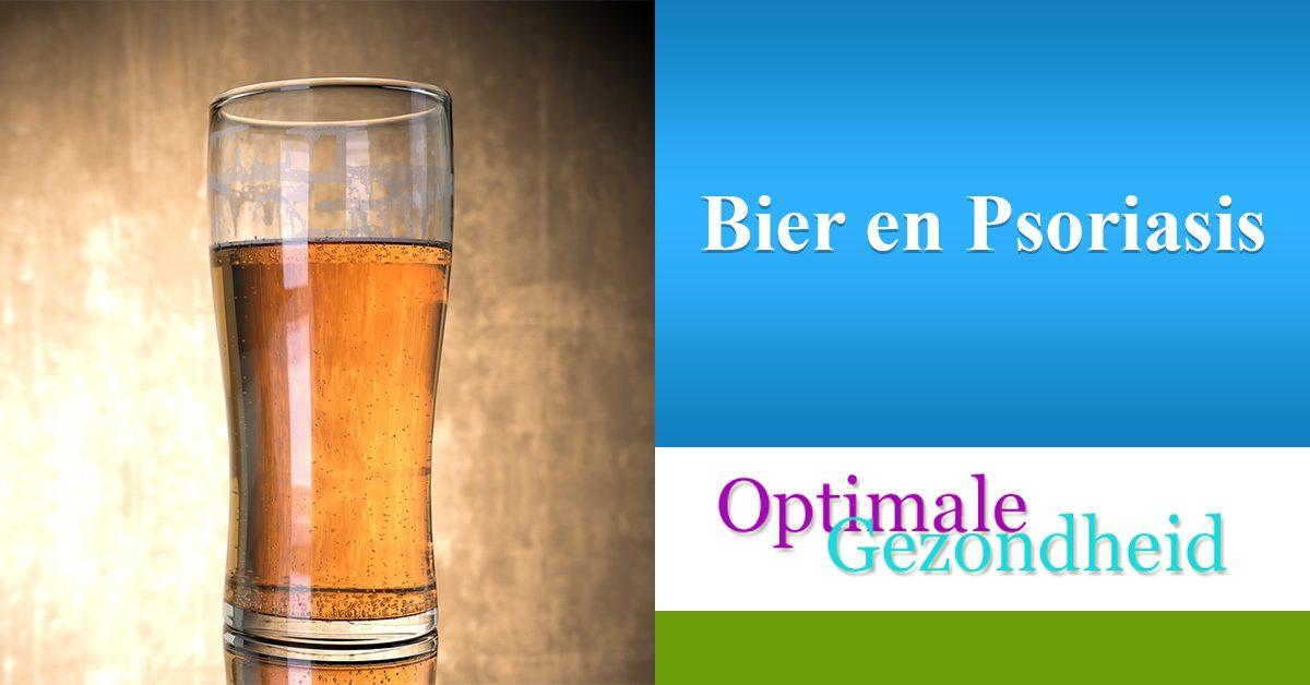 Psoriasis en bier