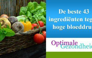 vieding en ingredienten tegen hoge bloeddruk
