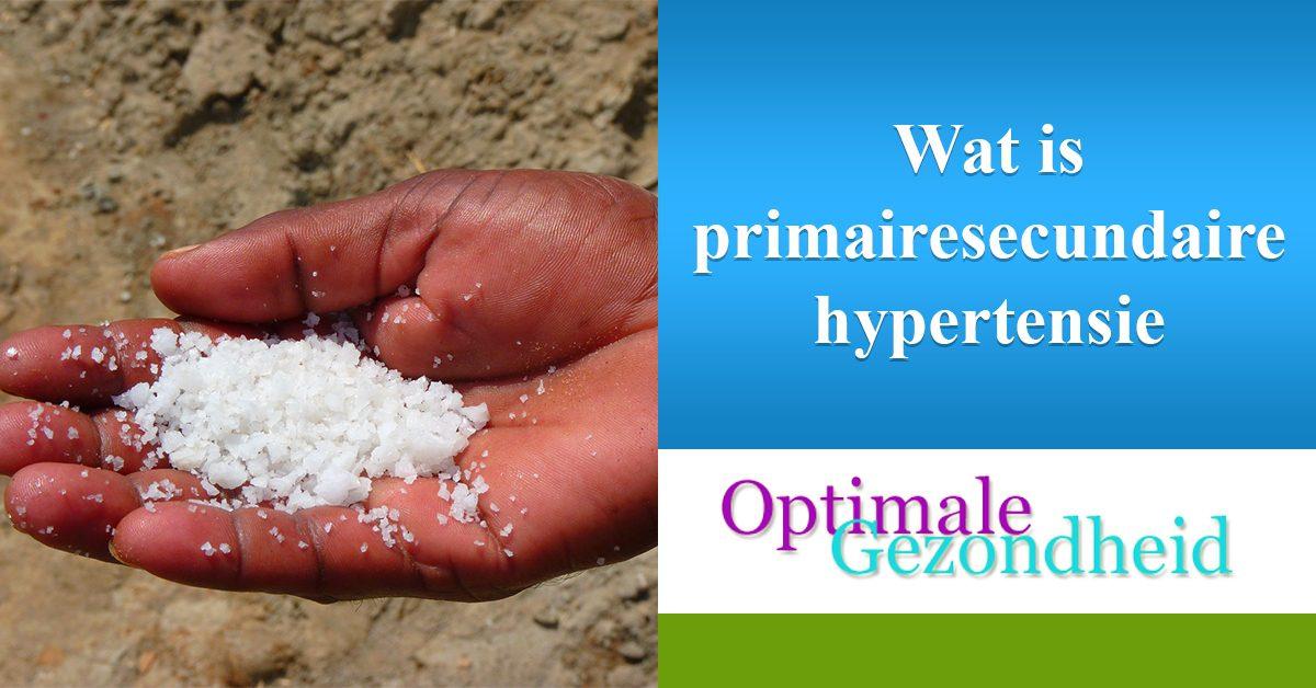 primaire en secundaire hypertensie