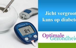 jicht vergroot kans op diabetes