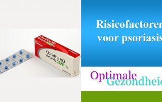 risicofactoren van psoriasis