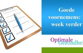 goede voornemens week 1