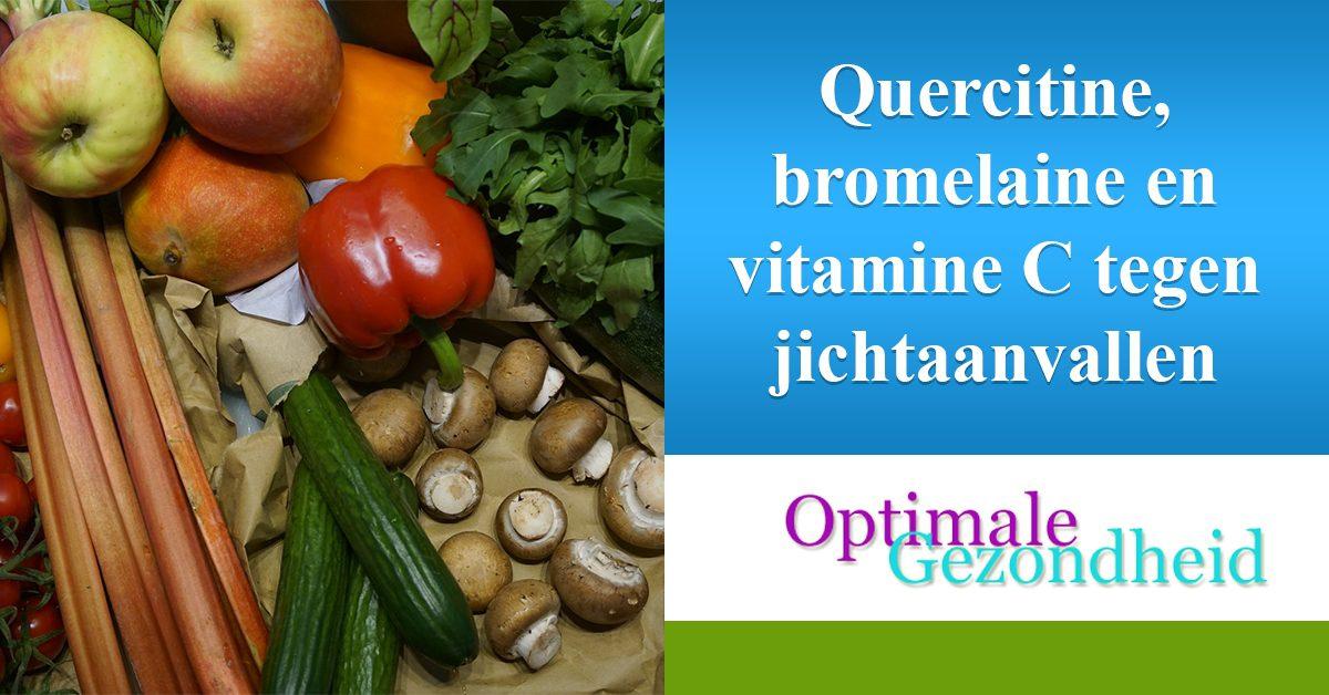 Quercitine en vitamine C tegen jicht