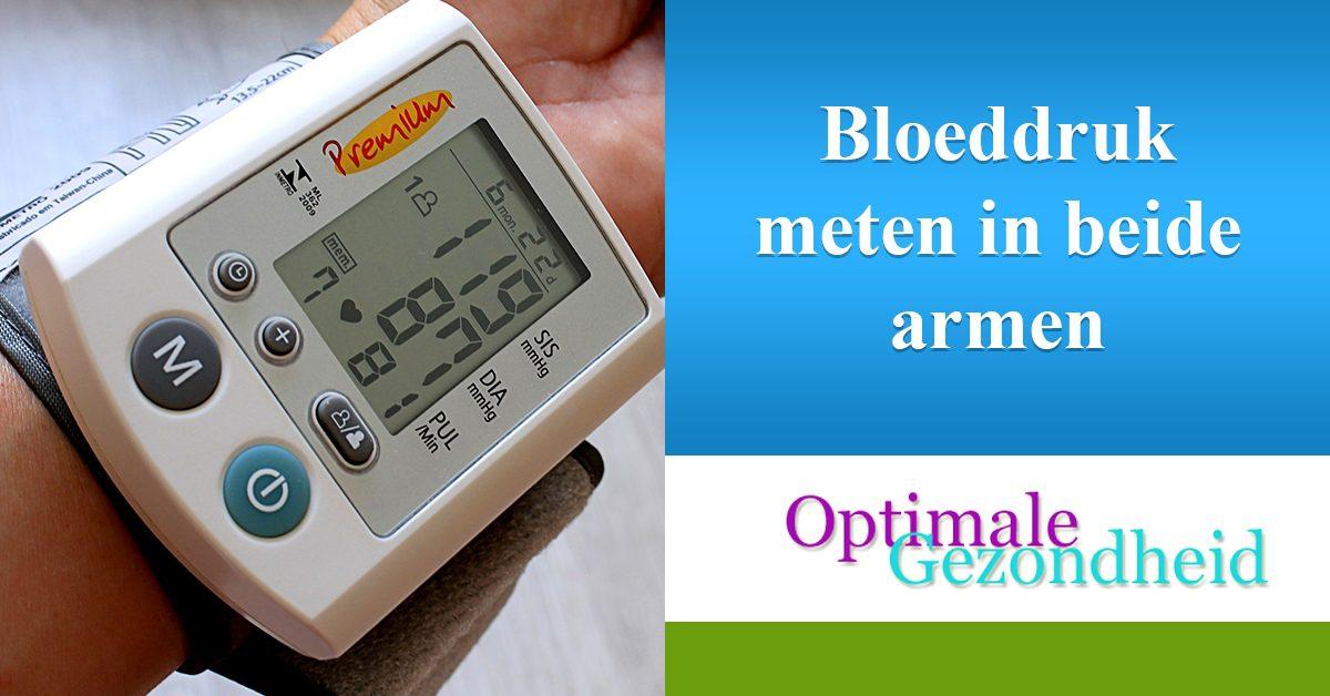 bloeddruk meten in beide armen