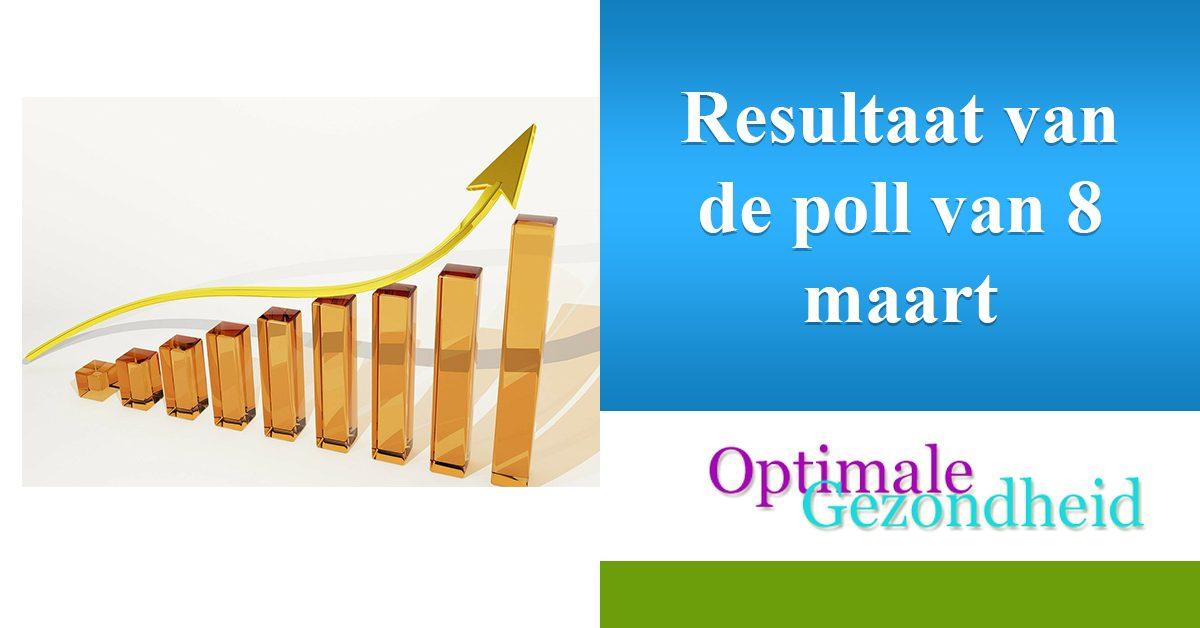 resultaat poll 8 maart