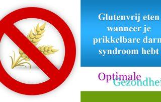 glutenvrij eten en PDS