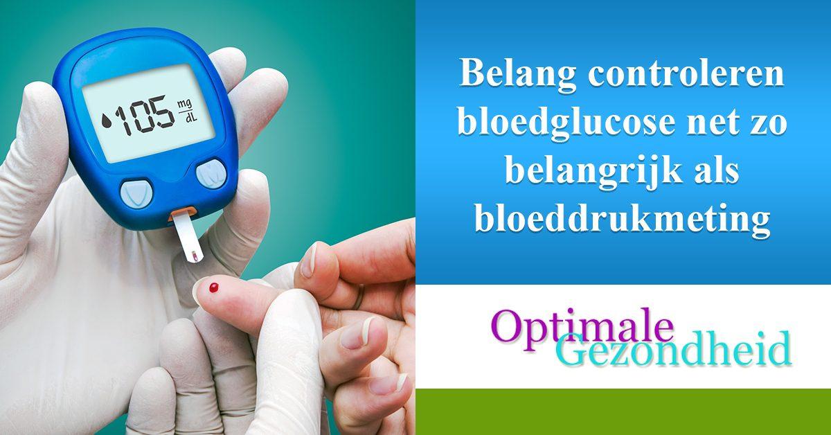 bloedglucose en een bloeddrukmeting