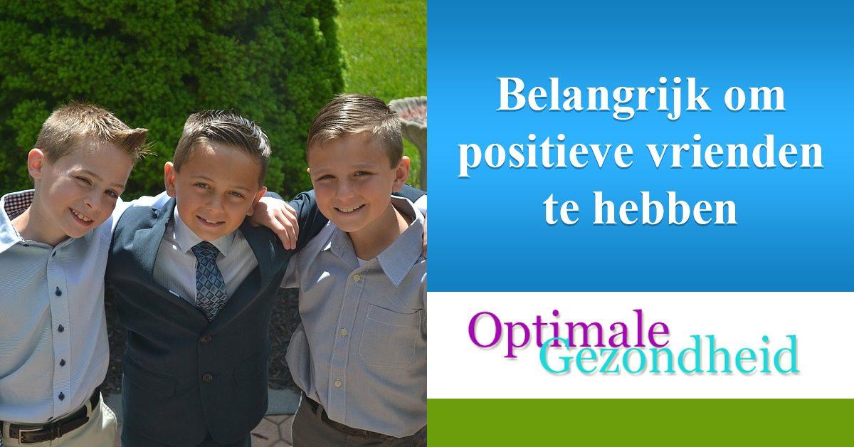 belangrijke om positieve vrienden te hebben