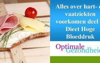 hoge bloeddruk dieet