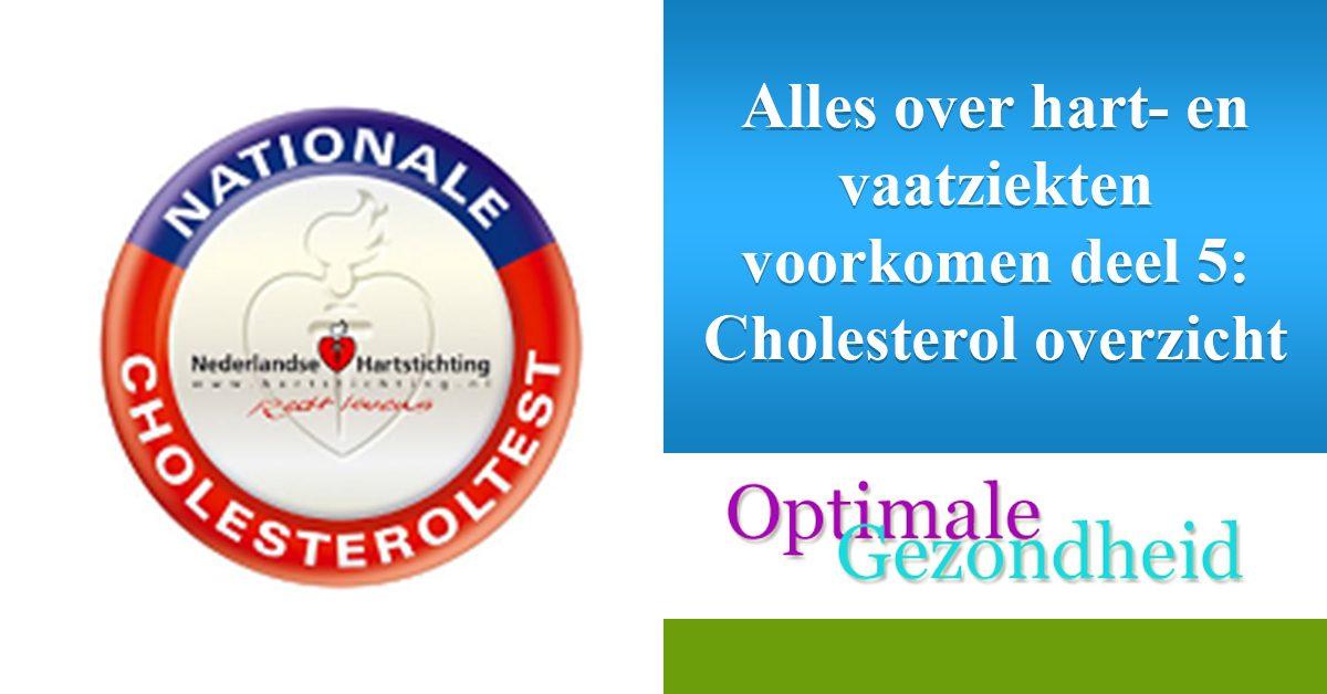 Cholesterol overzicht