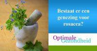 genezing voor rosacea?
