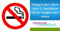stoppen met roken voordelen