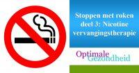stoppen met roken vervangingtherapie