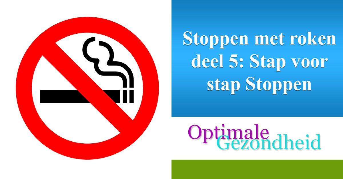 stoppen met roken stap voor stap