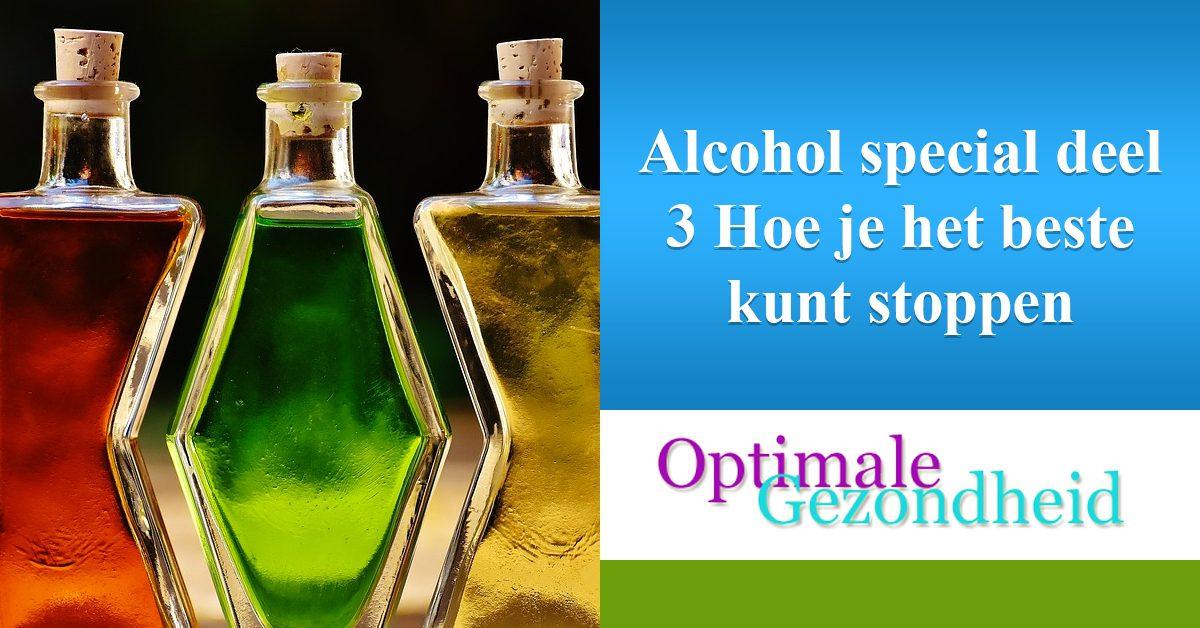 stoppen met het drinken van alcohol
