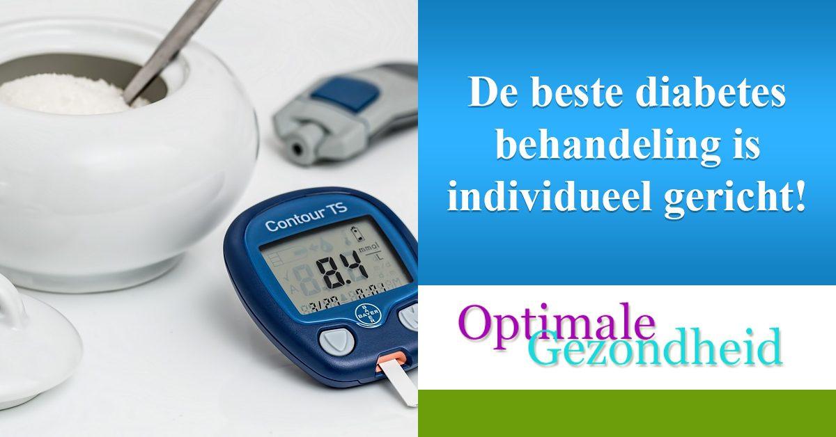 diabetes behandeling is individueel ingericht