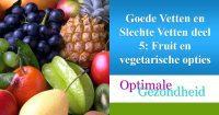 fruit en vegetarische opties