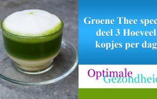 groene thee, 2 kopjes per dag