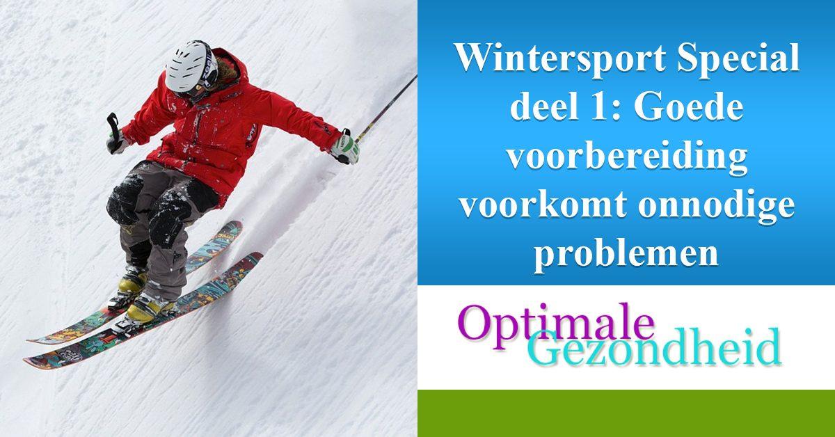 voorbereiding wintersport