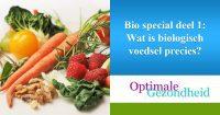 wat is biologisch voedsel