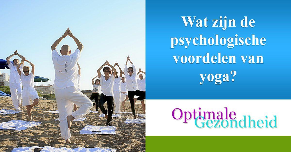 psychologische voordelen yoga