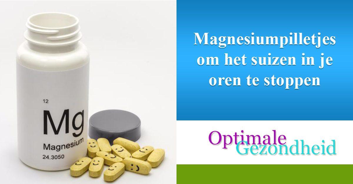magnesiumpilletjes en oorsuizen