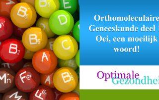 orthomoleculaire geneeskunde