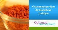 cayennepeper en hoge bloeddruk