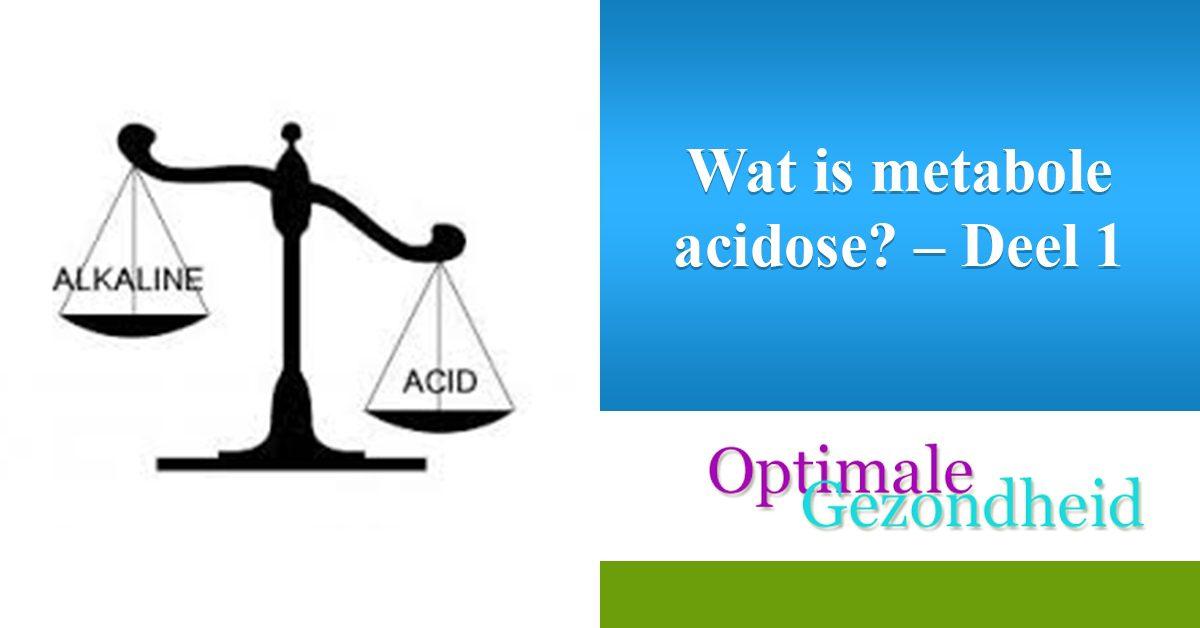 wat is metabole acidose?
