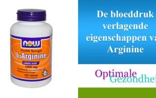 De bloeddruk verlagende eigenschappen van Arginine