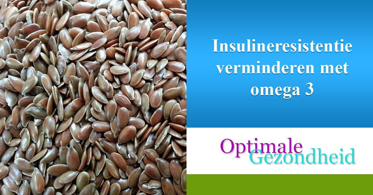 Insulineresistentie verminderen met omega 3