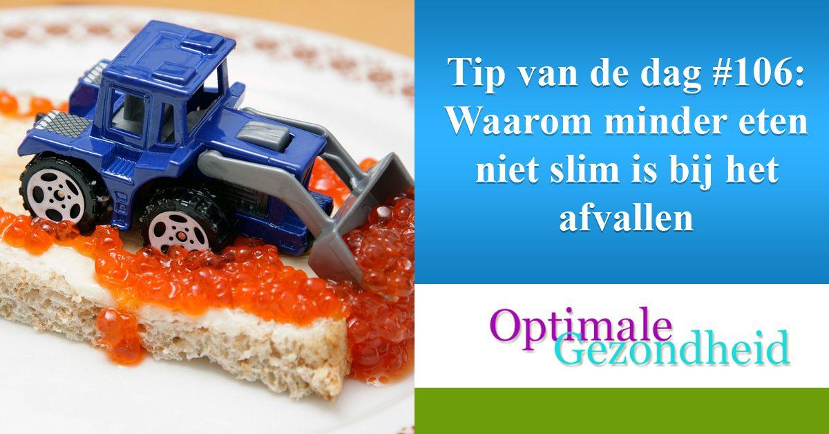 Tip van de dag #106 Waarom minder eten niet slim is bij het afvallen