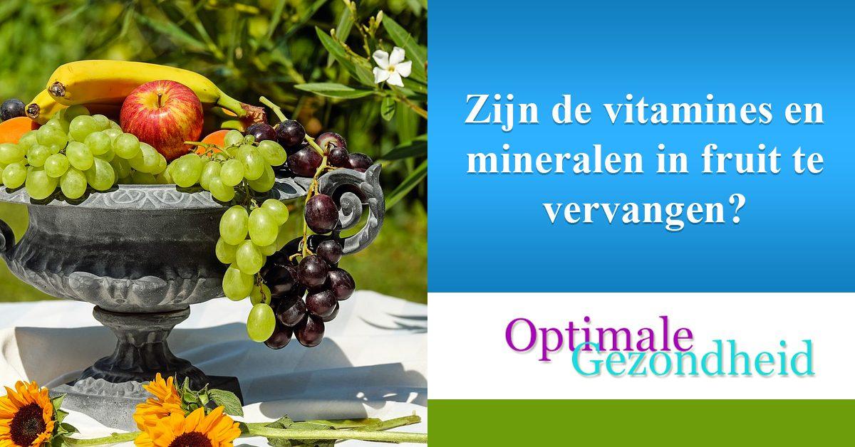 Zijn de vitamines en mineralen in fruit te vervangen
