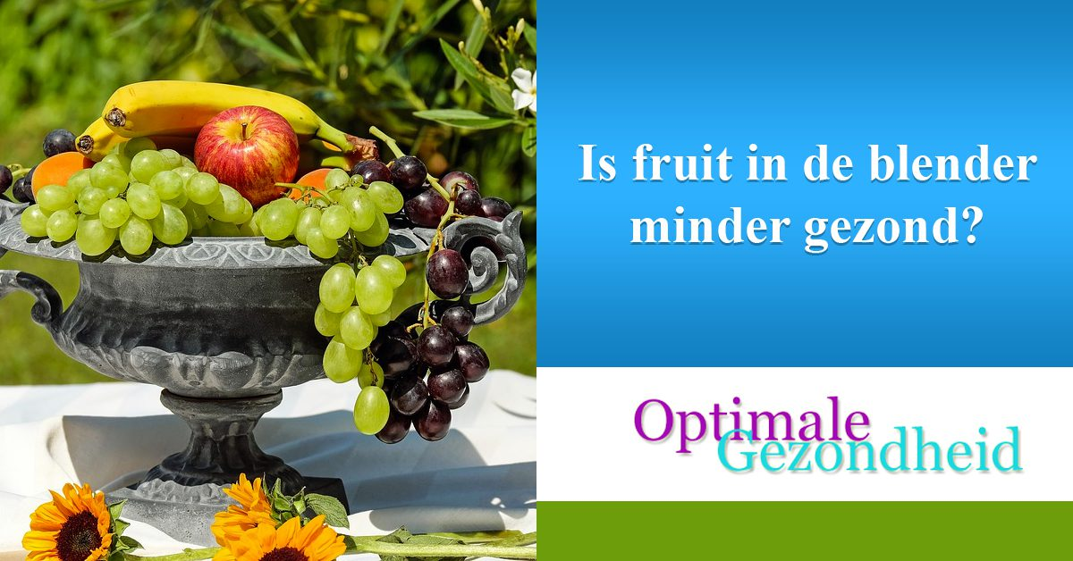 Is fruit in de blender minder gezond
