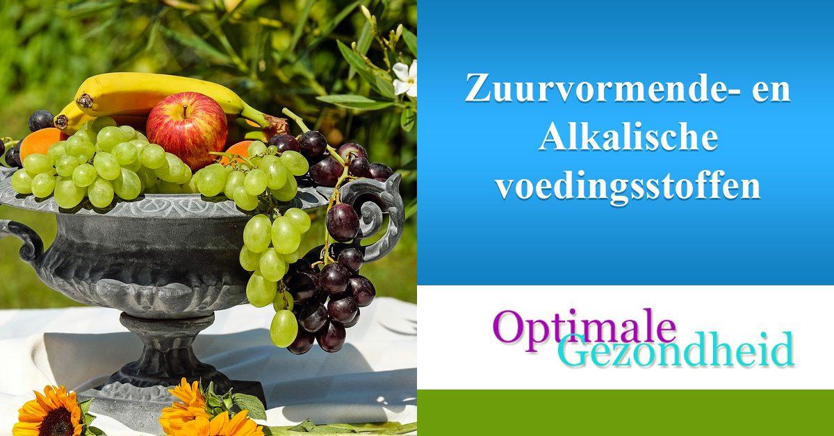 Zuurvormende- en Alkalische voedingsstoffen