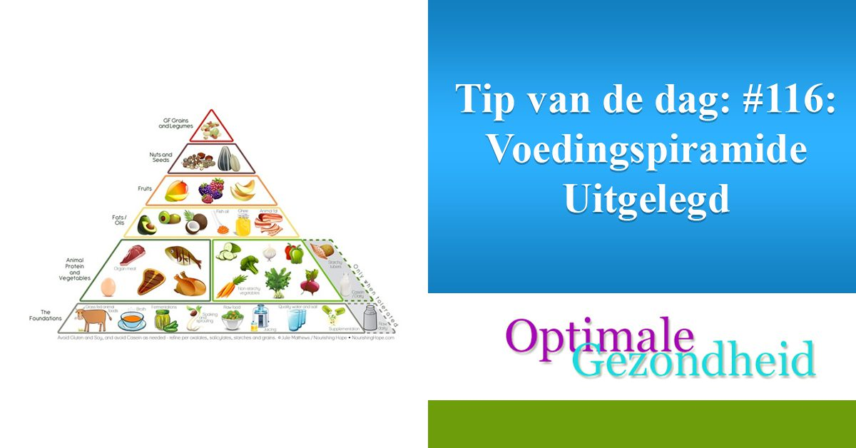 Tip van de dag #116 Voedingspiramide Uitgelegd