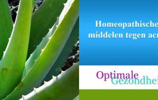 Homeopathische middelen tegen acne