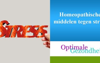 Homeopathische middelen tegen stress