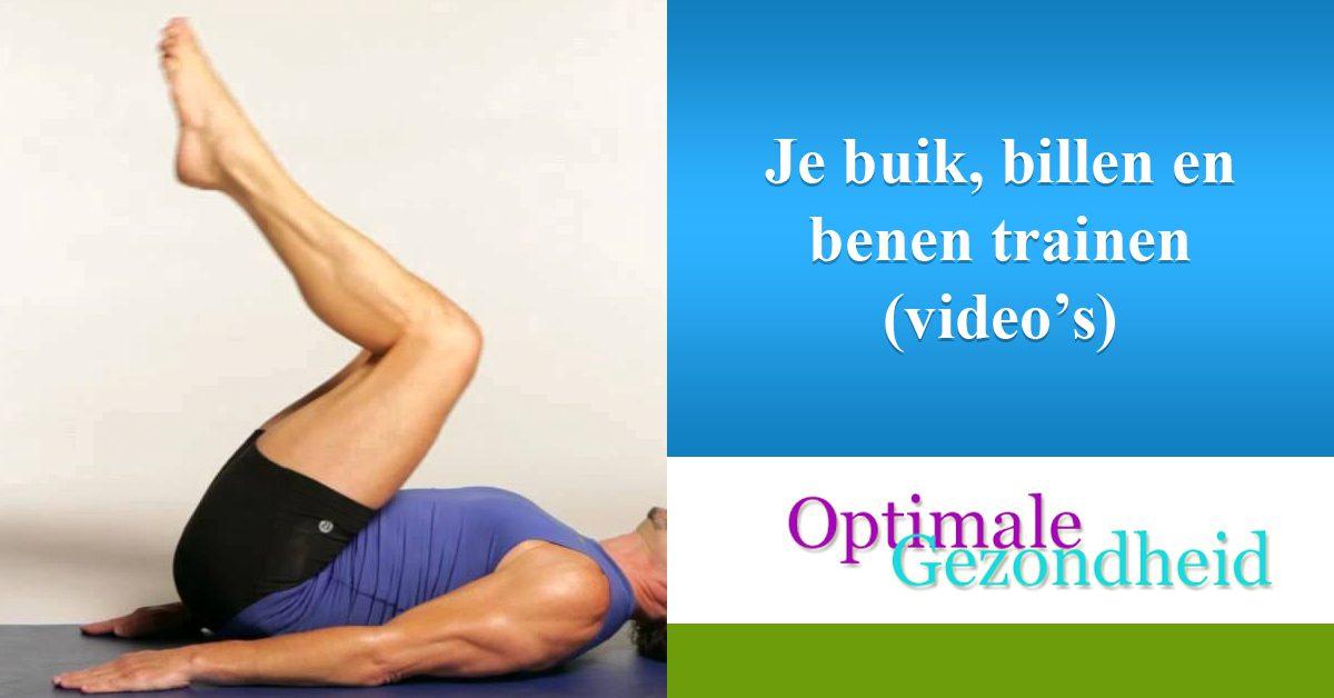 Je buik, billen en benen trainen (video's)