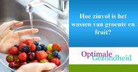 Hoe zinvol is het wassen van groente en fruit