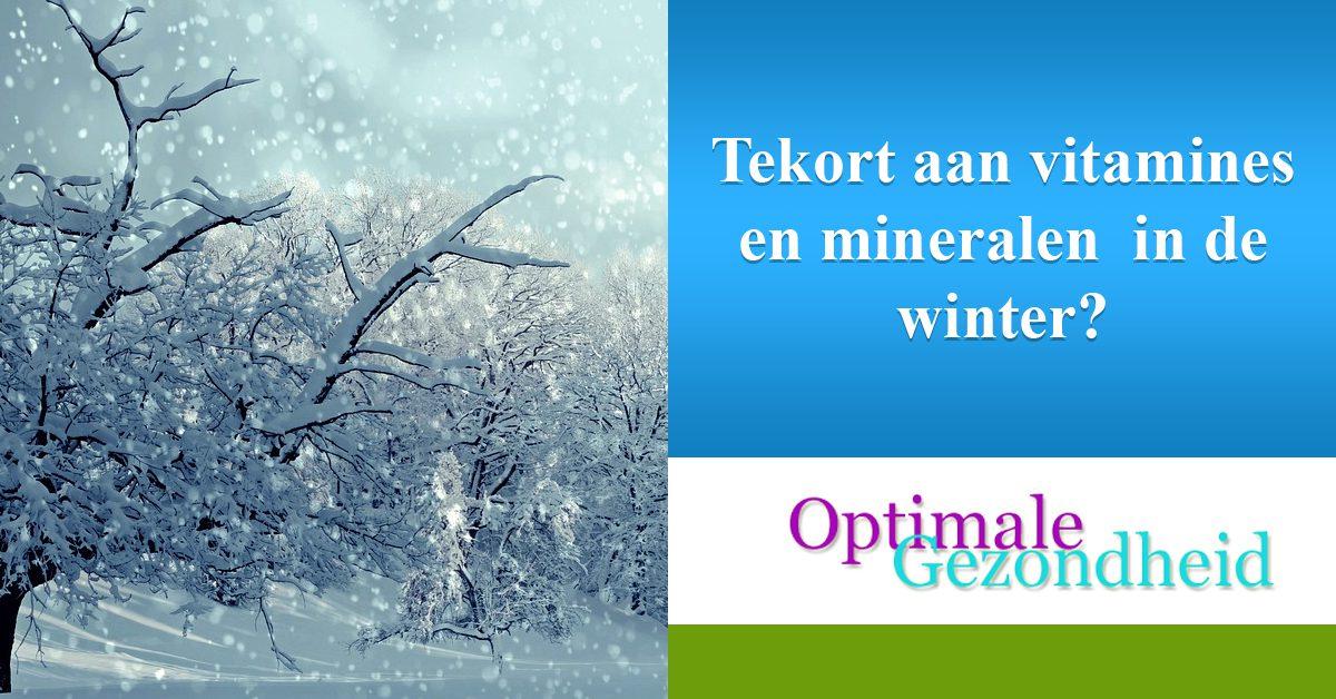Tekort aan vitamines en mineralen in de winter