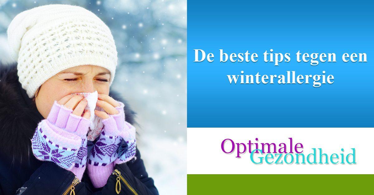 De beste tips tegen een winterallergie