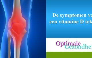De symptomen van een vitamine D tekort