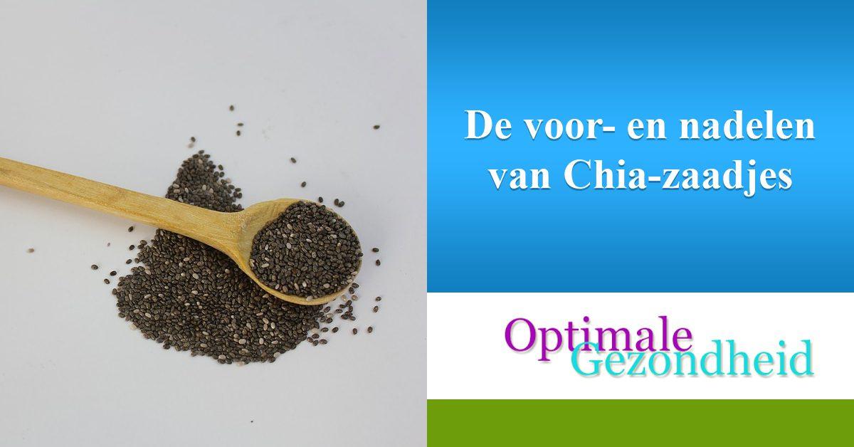 De voor- en nadelen van Chia-zaadjes