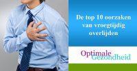 De top 10 oorzaken van vroegtijdig overlijden