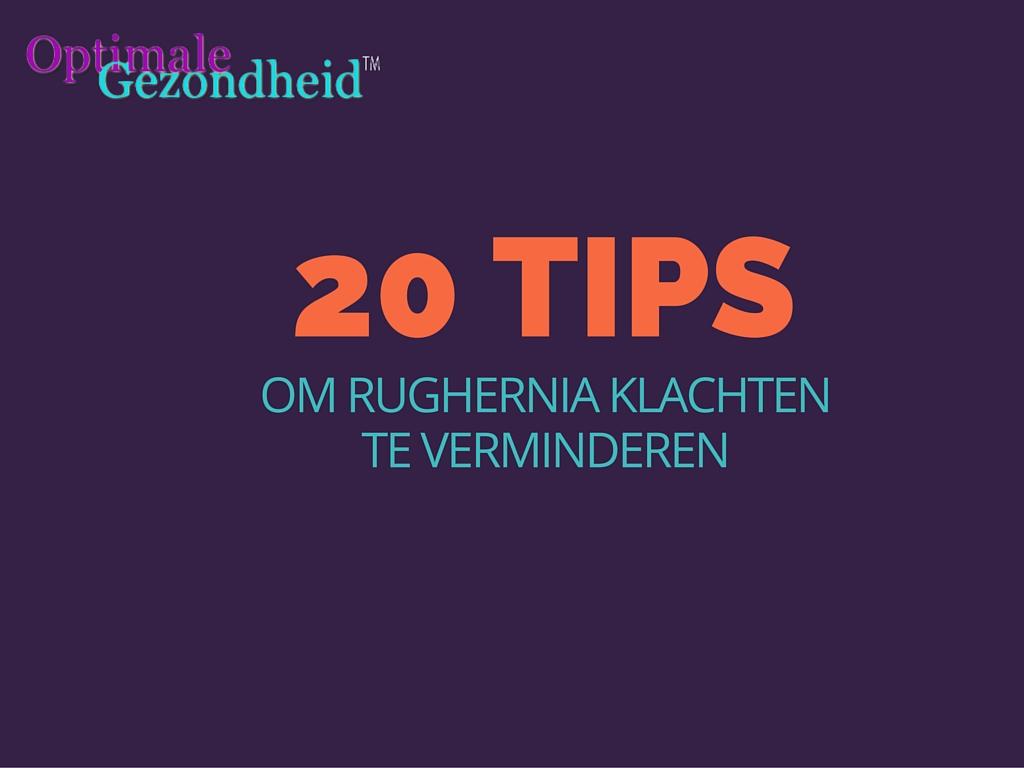 tips tegen rughernia klachten