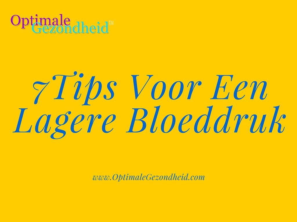 bloeddrukverlagers