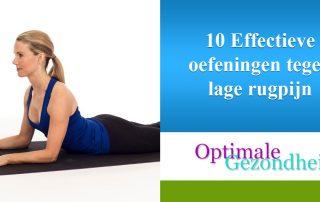 10 Effectieve oefeningen tegen lage rugpijn